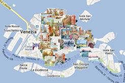 Positionner mes aquarelles de Venise sur une carte