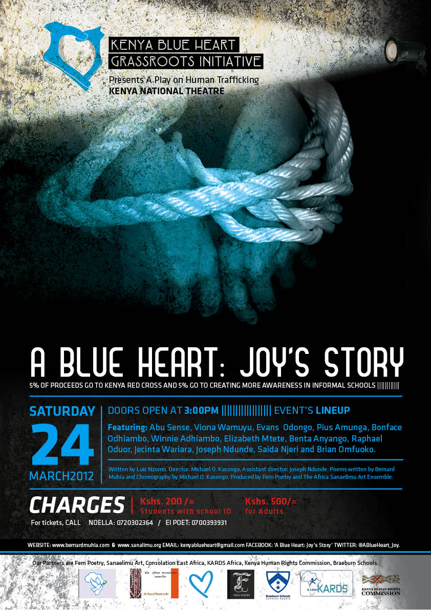 A Blue Heart: Joy's Story is a play about Human Trafficking, coming to Kenya ...