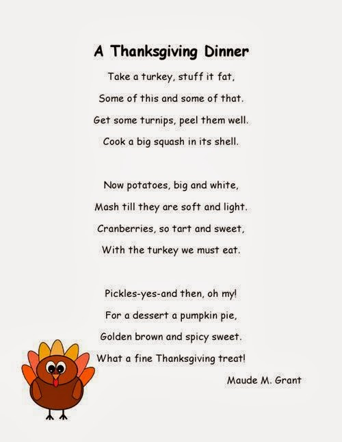 Best Funny Thanksgiving Poems For Kids About Turkeys