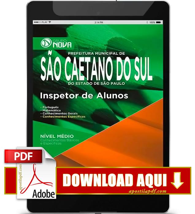 Apostila Prefeitura de São Caetano do Sul 2015 Inspetor de Alunos PDF Download