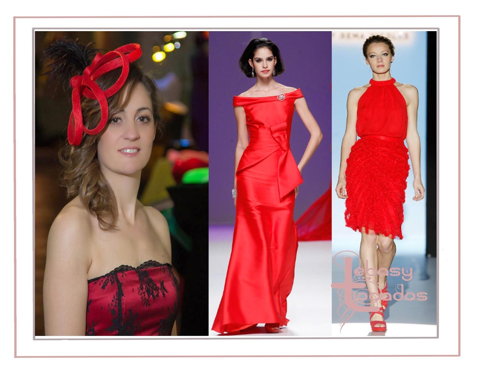Tocado rojo Lebasy de la colección 2014 LADNA