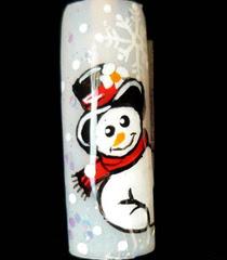 Зимен Nail Art Снежен човек
