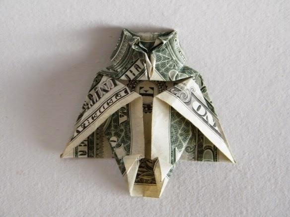 Easy Origami Flower From Dollar Bill