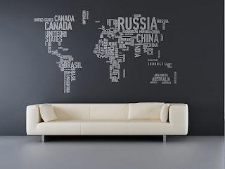 ������ ���� 2012, ����� 2012,������� wall-sticker-world-map.jpg
