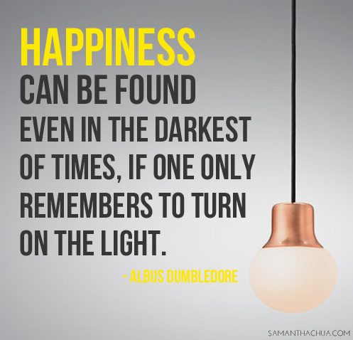 Harry Potter Dumbledore Quote Happiness