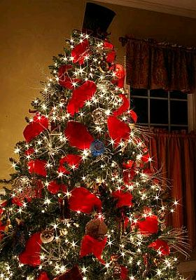 Red christmas trees 1 - Arboles decorados de navidad ...