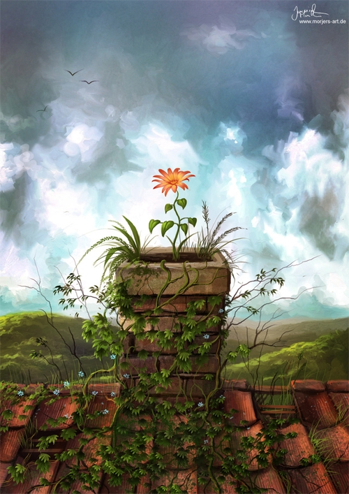 13-The-Flowerpot-Jeremiah-Morelli-Fantasy-Digital-Art-from-a-Middle-School-Teacher-www-designstack-co