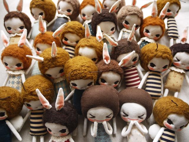 Evangelione handmade dolls via heyladyspring.com