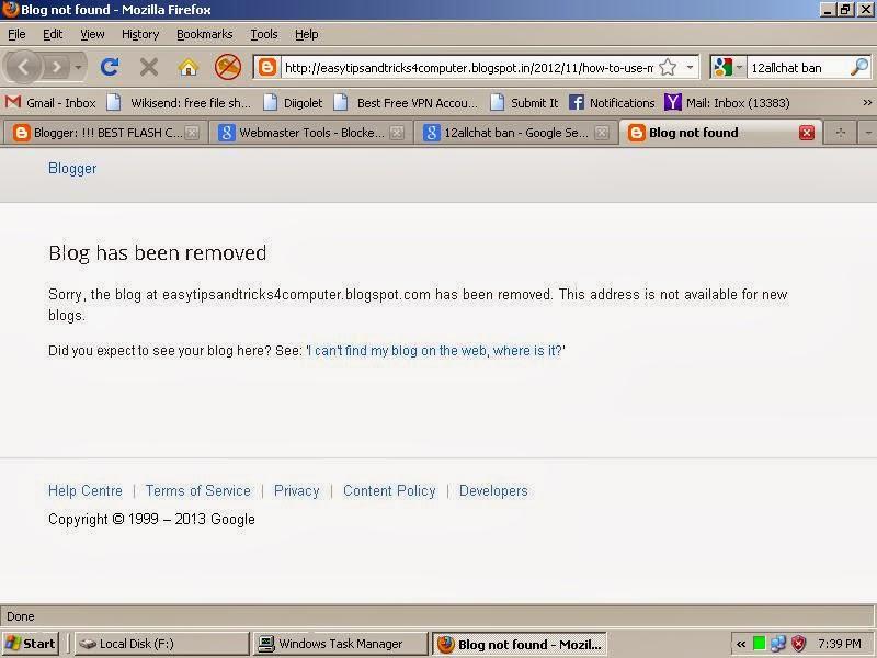 Google Spam Team Removed Spam Blog Fast