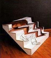 climbing stairs illusion