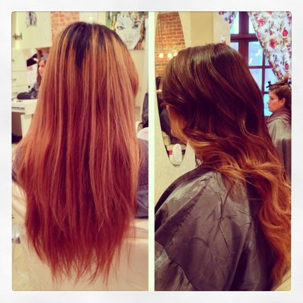 Ombre hair color done by Autumn Lee located in Denver CO.