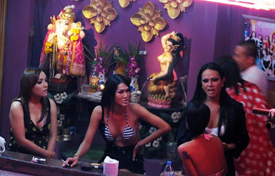 Ladyboys at Nana Plaza