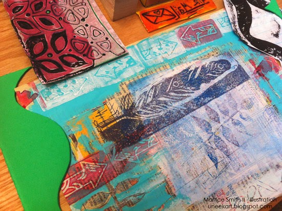 Martice Smith II; Day 20 of 31 (Printmaking Unleashed): Foam Stamp collection