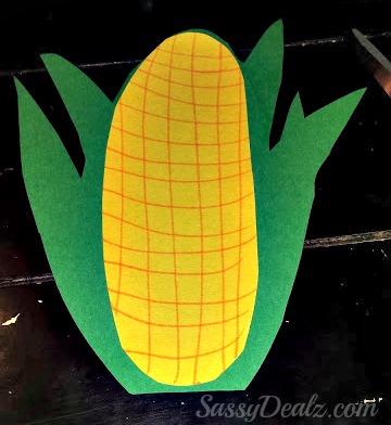 Corn Stalk Kids Art Project