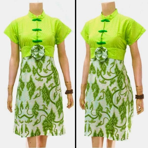 Baju Dress Batik Motif Mega Mendung