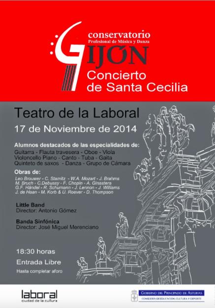 Concierto de santa cecilia en el teatro de la universidad for Teatro de la laboral