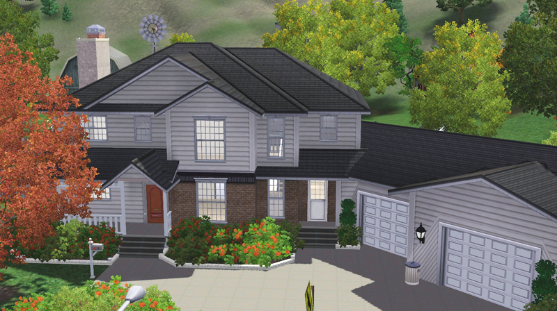 Freebird sims 3 lot family house 02 for Sims 3 family home ideas