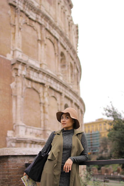 the Closet Catwalk, Europe, Rome, Italy, Honeymoon, Shein sleeveless trench coat
