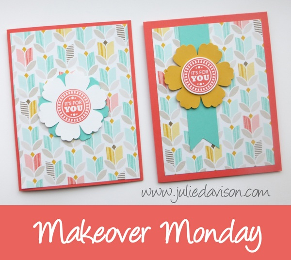 Stampin' Up! Amazing Birthday -  Makeover Monday: Rule of Thirds Design Principle www.juliedavison.com