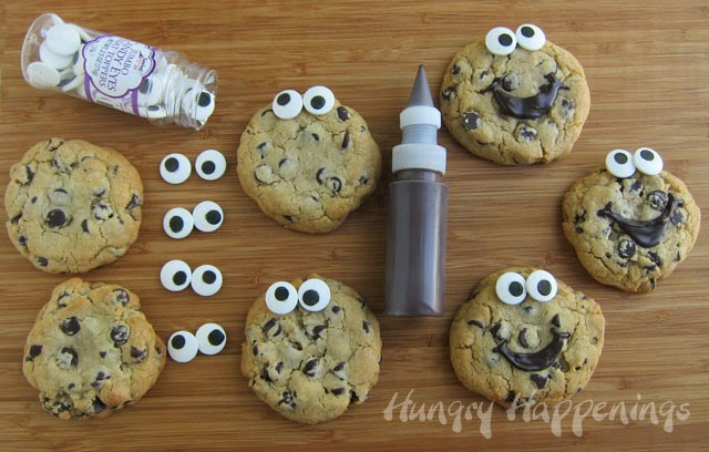Decorated Smiley Face Chocolate Chip Cookies