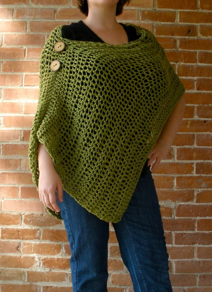 Crocheting Ponchos : ... : Things to Make: Pinterest Inspiration Customizable Crochet Poncho