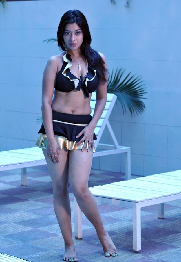 Payal Ghosh looking super ravishing in a two piece skirt bikini - Payal Ghosh Hot bikini photo shoot
