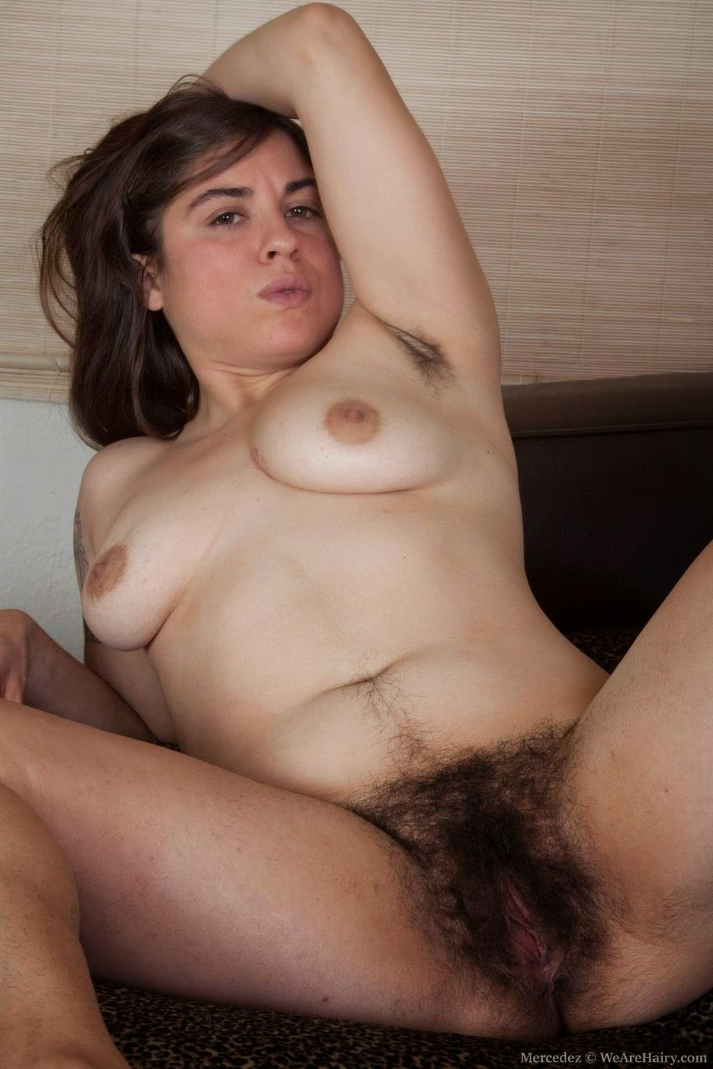 Furry full bush black cunt
