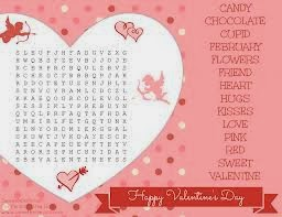 Printable Valentine Word Search Puzzles For Kids 6