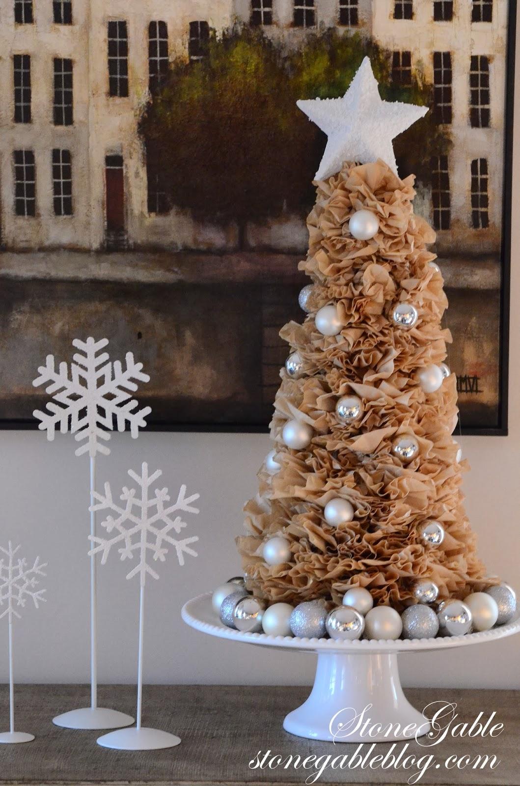 Diy Christmas Tree Wreath Part - 29: COFFEE FILTER TREE AND WREATH DIY
