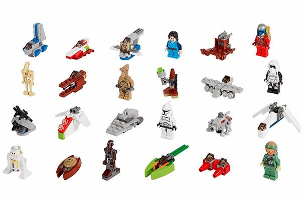 Contenido Calendario de Adviento Lego Star Wars