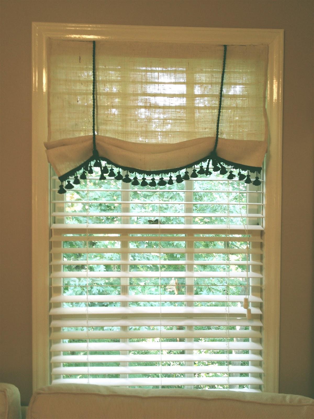 Always Something How To No Sew Burlap Window Treatment