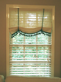 No-Sew Burlap Curtain