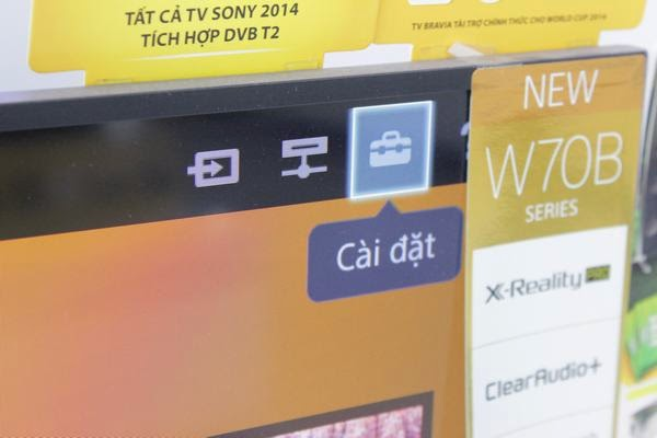 Hướng dẫn kết nối mạng cho Tivi Sony qua wifi 1