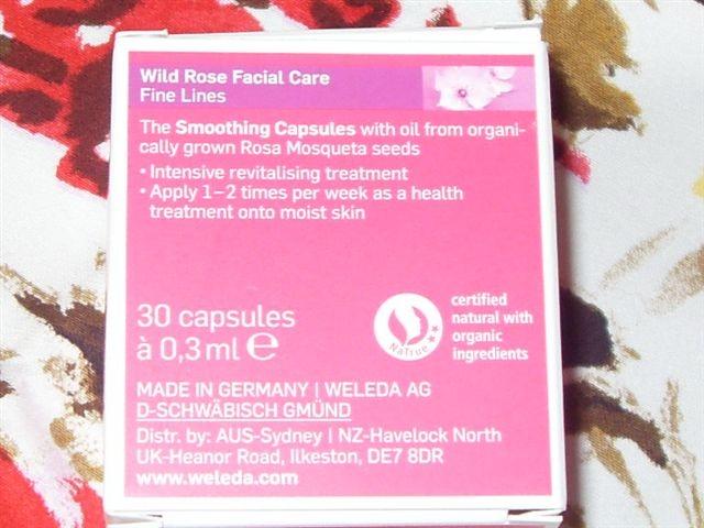 weleda wild rose face oil capsules
