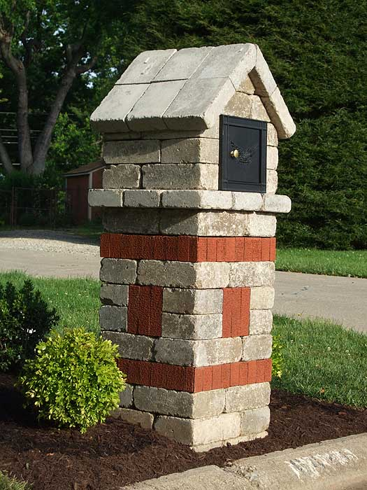 Brick Mailboxes Designs6