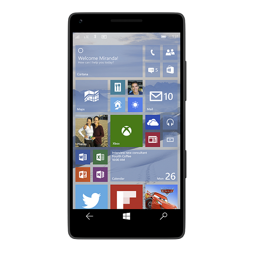 windows 10 on phone