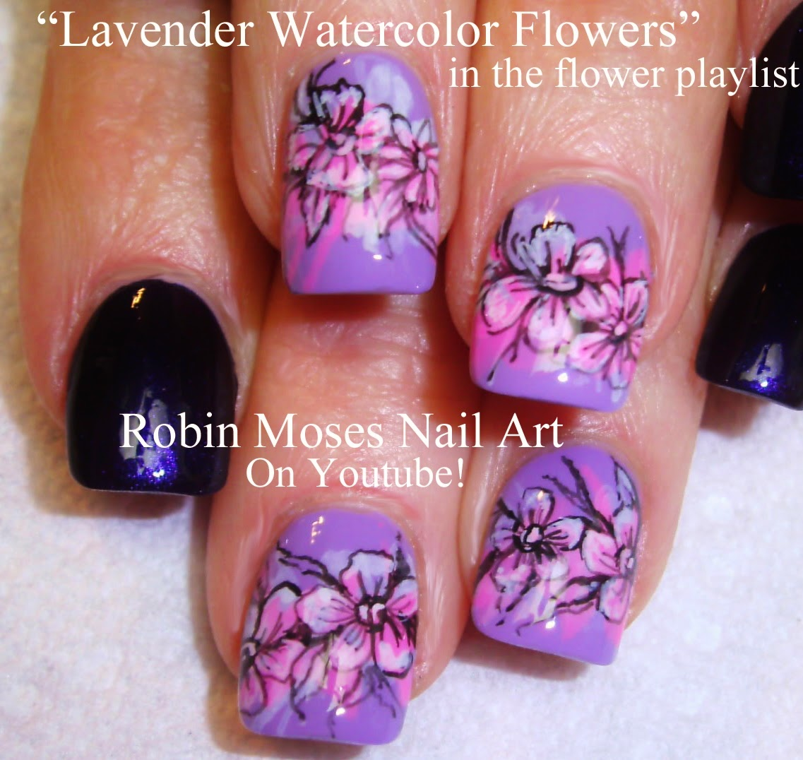 "Robin Moses Nail Art February 2015: Robin Moses Nail Art: ""watercolor Art"" ""watercolor Nail"