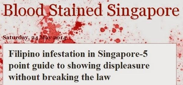 Racist Singaporean Blog Post Against Filipinos