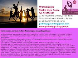 Shakti Yoga Dance Workshop: Descubra o seu lado feminino, desenvolva a sensualidade!