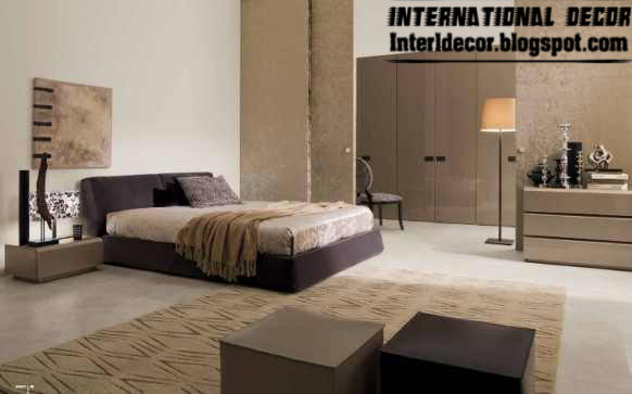 stylish bedroom design with turkish ideas and furniture beige 2015 - Brown Bedroom 2015