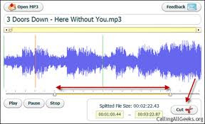 Free online tools soft to cut and edit songs MP3 files Cutmp3 is a great site i found, web site that cuts and edits MP3 files online for totally free