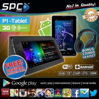 SPC P1 Fusion, Tablet Android ICS, Dual-core, Dual SIM, 3G Harga 1 Jutaan