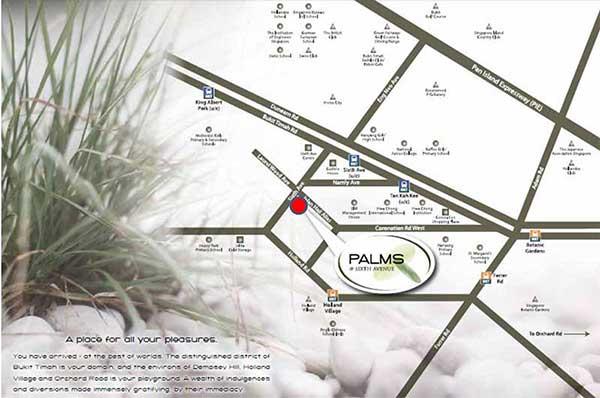 Palms @ Sixth Avenue Location Map