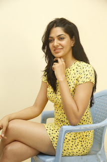 Sakshi Choudhary in Cute Small Yellow Dress Spicy Pics