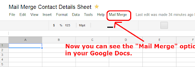 Steps 13 - A Mail Merge Option Menu Appear