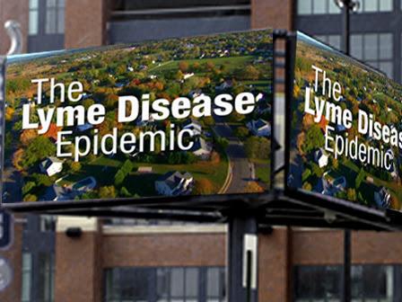 Lyme Disease Awareness Spot Running On Jumbotron At Super Bowl