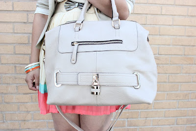 Just Fab! Nude Satchel