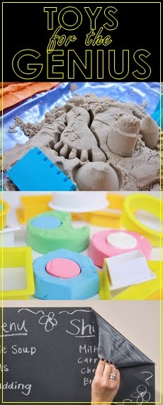 Kinetic Sand, Bubber & Blackboard Sticker