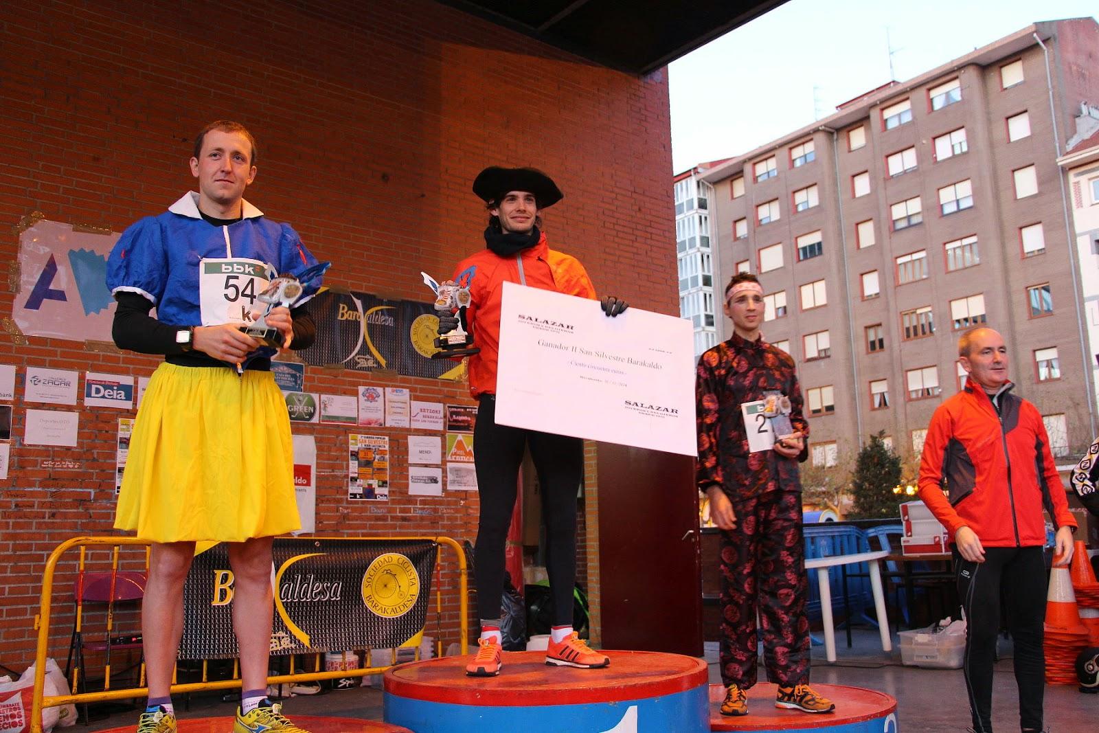 La barakaldesa Belit Solar y el santurtziarra Iker Velasco ganan la segunda carrera San Silvestre