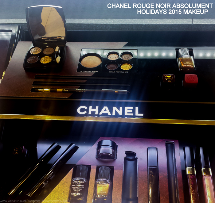 Chanel Rouge Noir Absolument - Vamp Attitude - Holidays 2015 Makeup Collection - Photos, Swatches